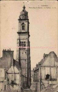 Cambrai Old Postcard Little St Martin Belfry