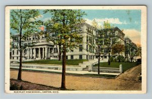 Canton OH-Ohio, McKinley High School, Vintage Postcard