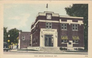 KINGSVILLE , Ontario , 1930s ; Post Office