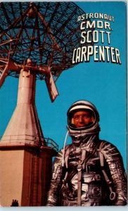 ASTRONAUT Commander SCOTT CARPENTER Preparing to Orbit  May 24 1962   Postcard