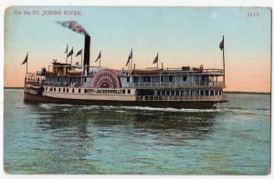 Steamer City of Jacksonville, St. Johns River Fl