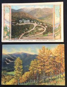 Postcards (2) Colorado Hotel Grand View/Aspens 2 Used LB