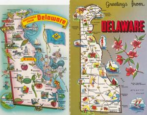 Delaware Ohio 2x Map Postcard s