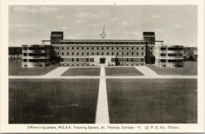 Officer's Quarters RCAF Training Centre St Thomas Ontario ON Postcard D78 *As Is