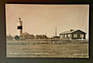 Mint Vintage Sweden Tall John Lighthouse Oland Real Photo Postcard