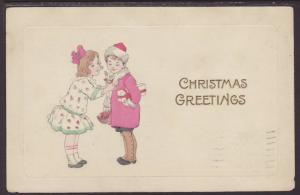 Christmas Greetings,Children Postcard