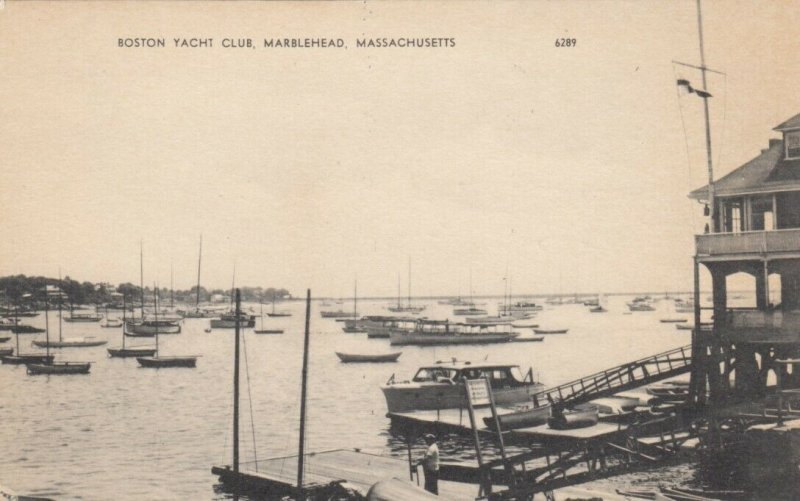 MARBLEHEAD, Massachusetts, 1900-1910s; Boston Yacht Club