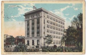 Lehigh Valley Coal Company Building, Wilkes-Barre, PA, 1924 used Postcard
