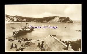 f1340 - Cossens Paddle Steamer - postcard at Lulworth Cove