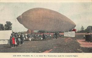 Air Ship Toledo Roy Knabenshue Made His Flights Postcard