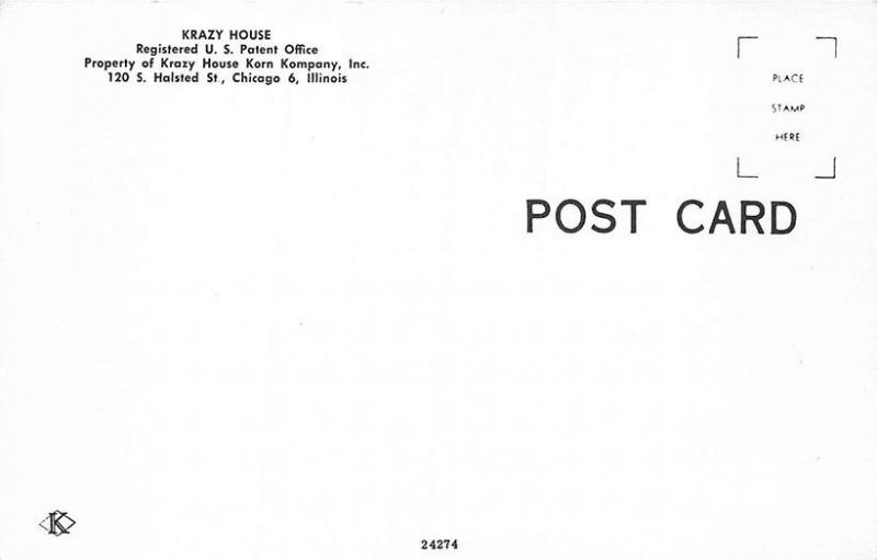 Chicago IL Krazy House Korn Kompany Drive-In Postcard