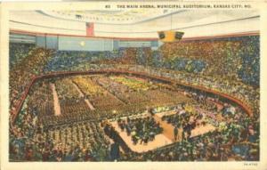 The Main Arena, Municipal Auditorium, Kansas City, MO, 19...