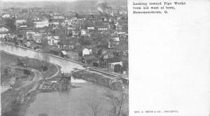 F63/ Newcomerstown Ohio Postcard c1910 Canal Lock Pipe Factory Birdseye 2