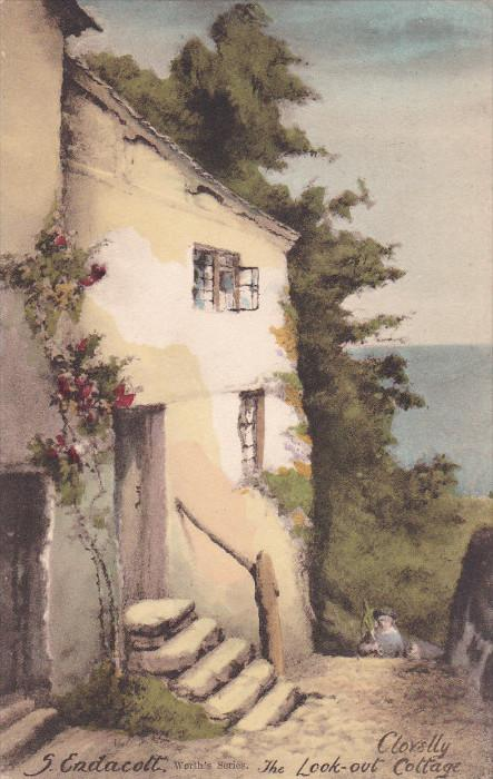 AS: S. Endacott; CLOVELLY, Devon, England, United Kingdom; The Look-out Cotta...