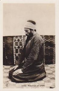 RP: Syrie. Musulman en priere , 1910-30s