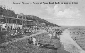 Mozambique, Maputo, Lourenco Marques, Bathing at Polana Beach Banho, Polana