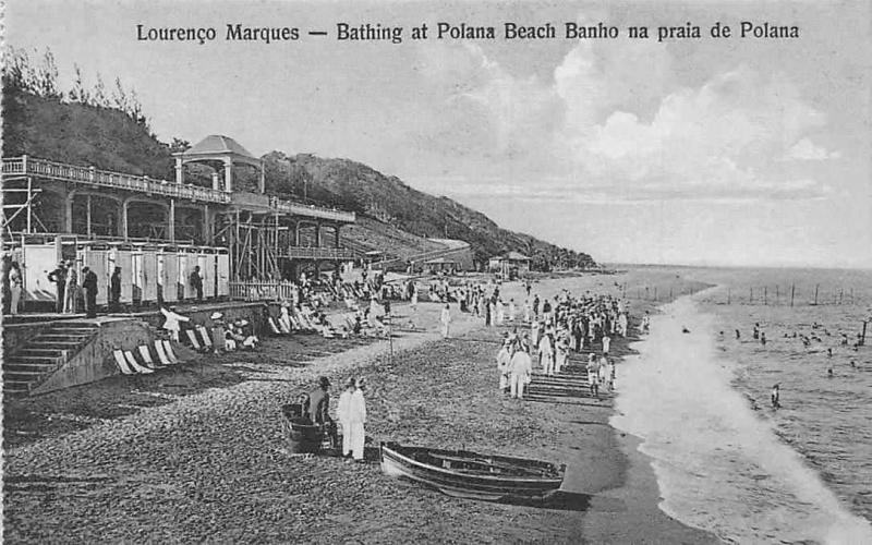 Mozambique, Maputo, Lourenco Marques, Bathing at Polana Beach Banho, Polana