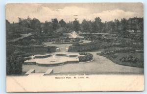 *1907 Reservoir Park Fountain Gardens St. Louis Missouri MO Vintage Postcard C23