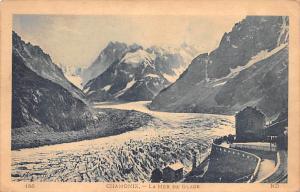 Switzerland Old Vintage Antique Post Card Chamonix La Mer de Glace Unused