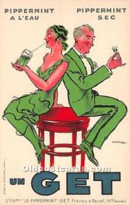 Advertising Postcard - Old Vintage Antique Pipperment A L'Eau Pippermint...