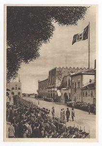 Greece Rhodes Rodi Governors Palace Guard Army Vntg Enrico Verdesi 4X6 Postcard