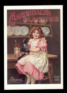 ad4078 - Martindale's Blackening - Girl Polishing Boots - Modern Advert postcard