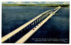 FL - St. Petersburg. The New Gandy Twin-Span Bridge