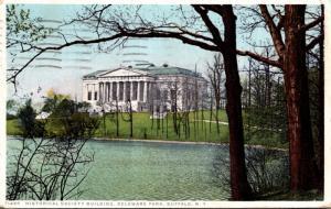 New York Buffalo Delaware Park Historical Society Building 1917 Detroit Publi...