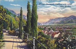 Passeggiata Tappeiner Colla Veduta Della Mendola, Merano (South Tyrol), Italy...
