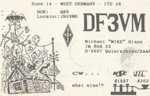 Quierschied German Amateur Radio Station QSL Postcard