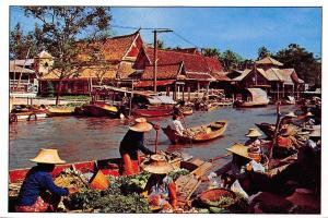 Thailand Wat Sai Floating Market Bangkok