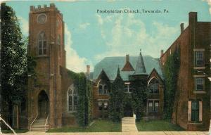 Towanda Pennsylvania~Presbyterian Church~1910 Postcard