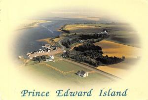 Canada Prince Edward Island Aerial view of French River
