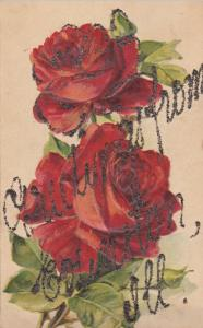 Illinois; 1900-10s ; Red Rose Greetings