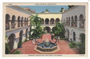 America's Exposition in San Diego CALIFORNIA Vintage Linen Postcard