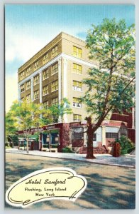 Flushing Queens-Long Island New York~Hotel Sanford~Close to La Guardia~1940s