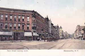 New York Gloversville Main Street Looking North