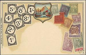 Trinidad, STAMP Postcard, Coat of Arms (ca. 1899)