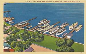 North Carolina Elizabeth City Yacht Basin and Portion Of Shipyard