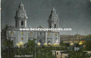 peru, PUNO, La Catedral, Cathedral by Night (1910s)