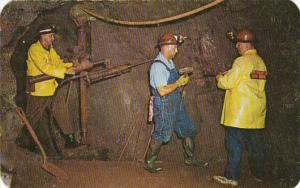 Michigan Iron Mountain Iron Mine Miners Demonstrating Double Jack Method Of D...