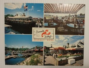 Postcard Barnacle Billy's Perkins Cove Ogunquit Maine 1985 Jumbo Troy NY