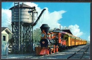 Passenger Train at Frontierland Water Tower,Disneyland