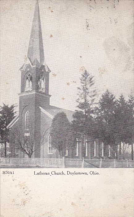 DOYLESTOWNS, Ohio, PU-1912; Lutheran Church