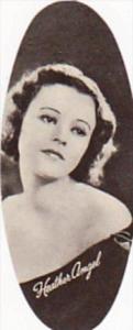 Carreras Vintage Oval Cigarette Card Film Stars 1934 No 55 Heather Angel