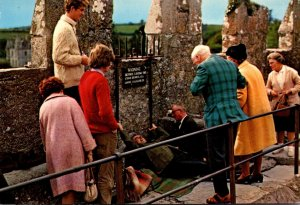 Ireland Co Cork Blarney Castle Kissing The Blarney Stone