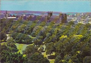 Overlookin Hyde Park to St Mary's Cathedral Sydney Australia