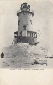 STAMFORD , Connecticut, 1901-07 ; Winter at the LIGHTHOUSE