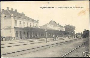 romania, ALBA IULIA, GYULAFEHERVAR, Railway Station 10s