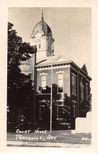 Paragould Arkansas Court House Real Photo Antique Postcard K72028